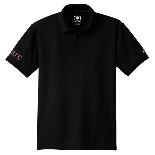 Men's Black Golf Polo-CURE Logo on Sleeve