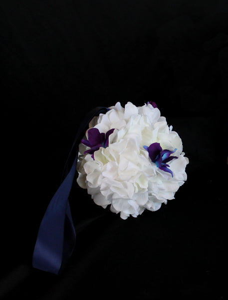 Hydrangea and Orchid Pomander