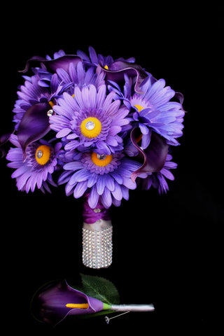 Beautiful Daisy and calla lily Wedding Bouquet Collection