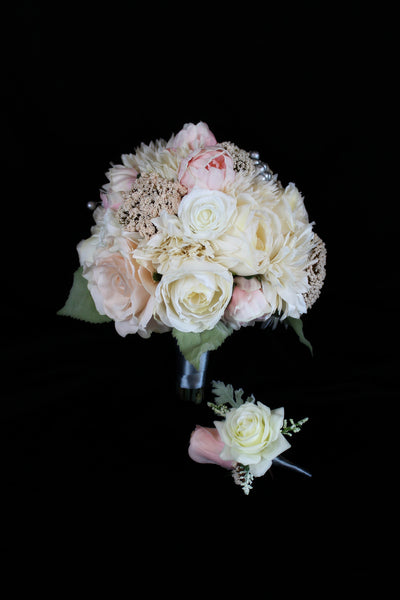 A Pink Peony Brides Bouquet