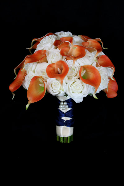 Ivory Rose & Calla Lily Brides Bouquet