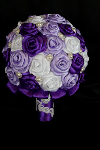 Shades of Purple Wedding Bouquet Collection