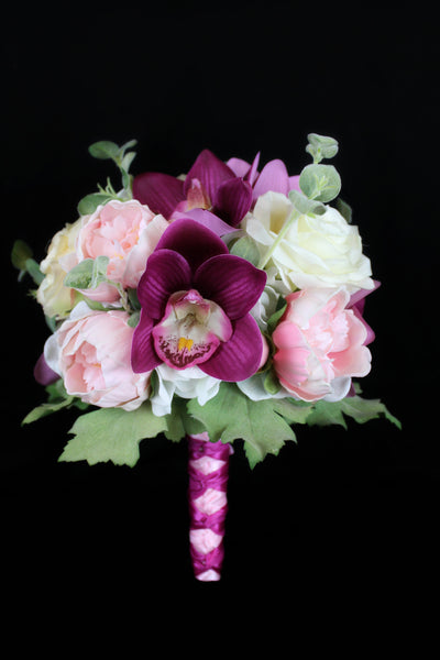 Artificial Wedding Bouquets.A Peony Orchid And Rose Dream Wedding Bouquet Collection
