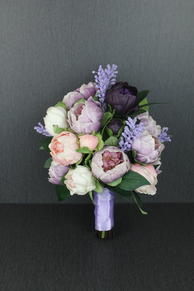 A Purple Peony Wedding Bouquet