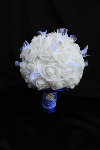 wedding bouquet, rose wedding bouquet, white wedding bouquet, bridal bouquet, wedding flowers, artificial wedding bouquet
