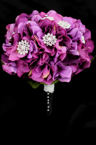 Brooch Hydrangea Wedding Bouquet Collection