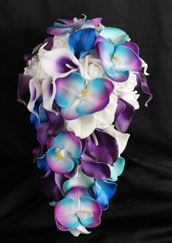 A Casacading Orchid Bouquet Collection