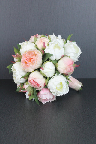 A Beautiful Peony Wedding Bouquet