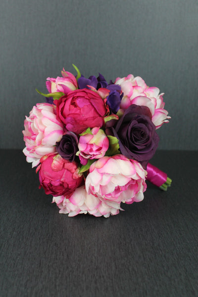 A Striking Peony Brides Bouquet