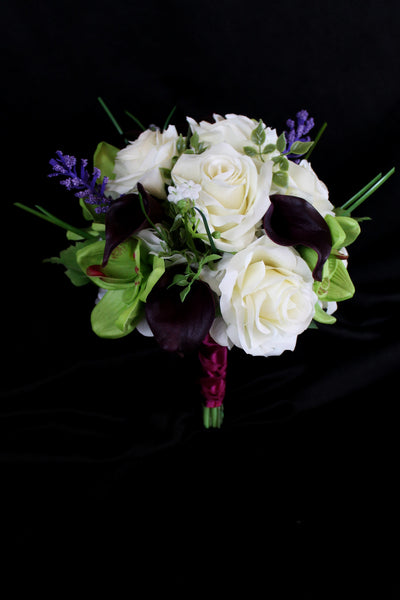 Calla Lily, Orchid and Rose Delight Brides Bouquet
