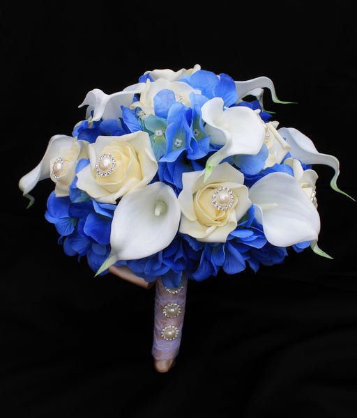Rose, Calla Lily & Hydrangea Brides Bouquet