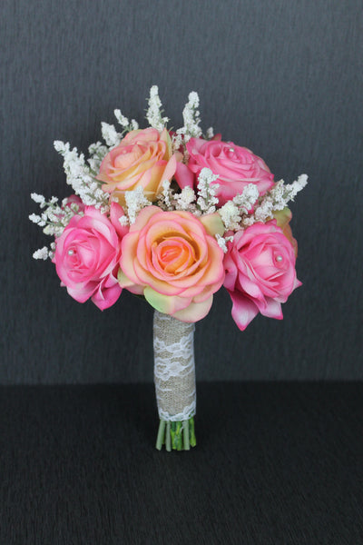 Pink Bridesmaids Bouquet