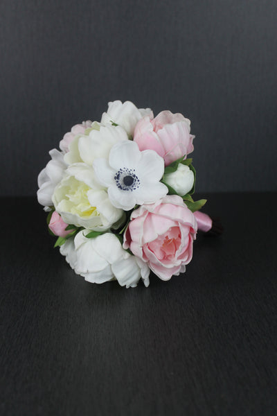 Anemones and Peony Bridesmaids Bouquet