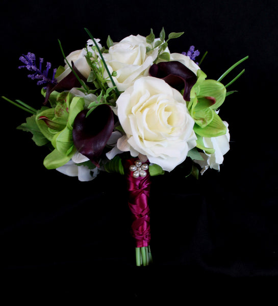 Calla Lily, Orchid and Rose Delight Wedding Bouquet Collection