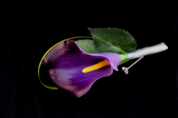 Beautiful Purple calla lily Boutonniere