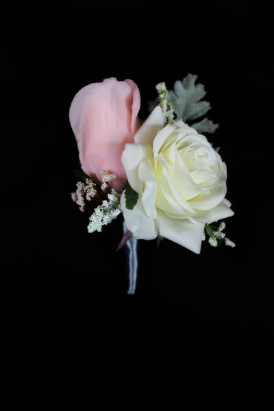 Vintage Feel Rose Boutonniere