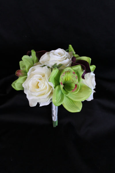 Calla Lily, Orchid and Rose Jr. / TossBouquet