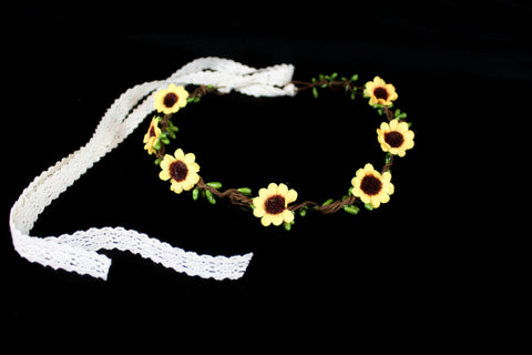Tiny Sunflower Flower Crown