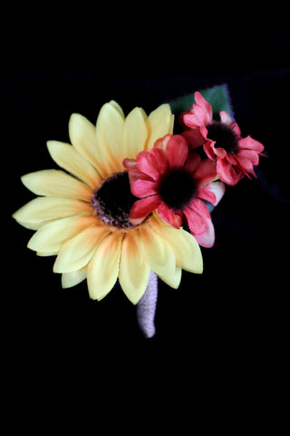 Fall Color Sunflower Boutonniere