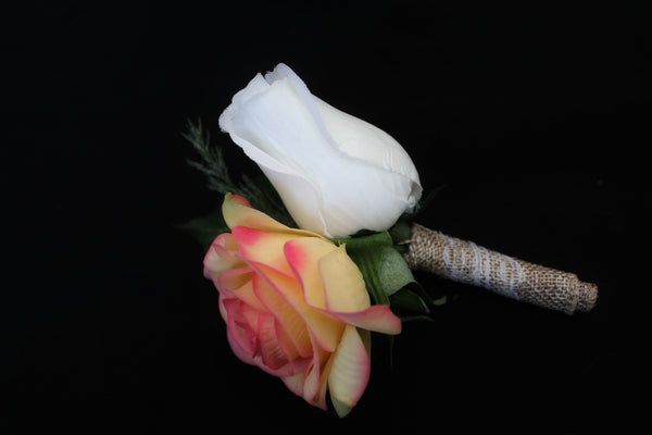 Adoring Rustic Rose Boutonniere