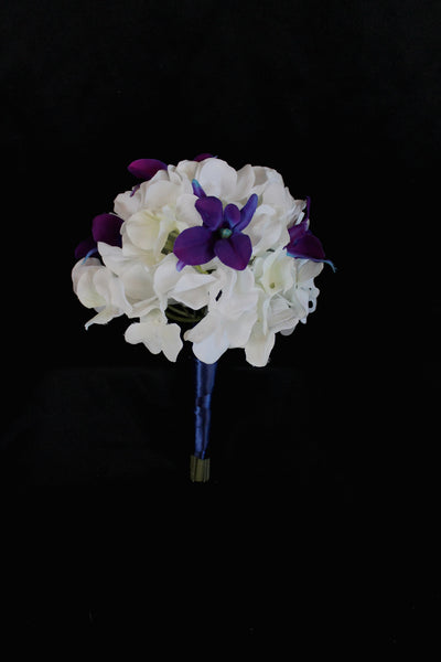 Hydrangea and Orchid Bridesmaids Bouquet