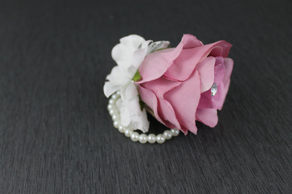 A Pink and Ivory Glam Corsage