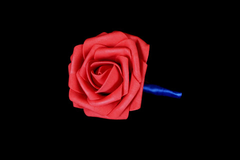 Bright Red Rose Boutonniere