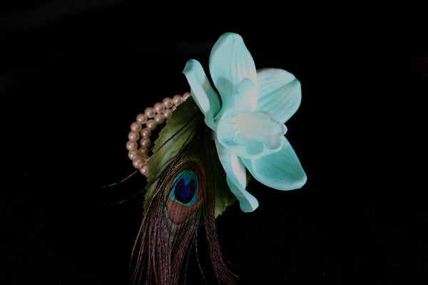 A Peacock Feather Corsage
