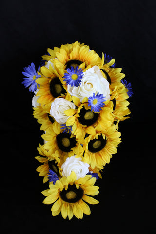 Casacding Rustic Sunflower Wedding Bouquet Collection