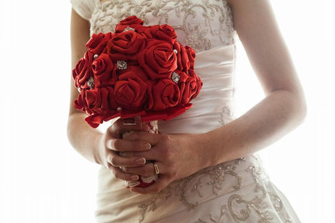 Red Ribbon Bouquet Collection