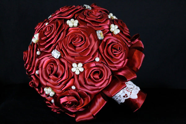 Deep Red Brides Bouquet