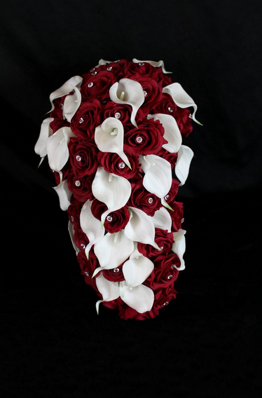 Cascading Rose & Calla Lily Brides Bouquet