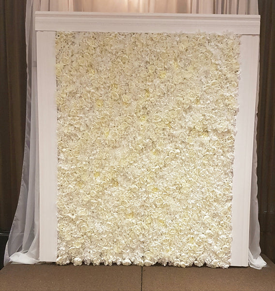 Ivory Flower Wall Rental