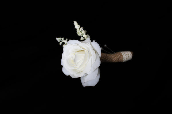 Baby's Breath, Rose Boutonniere