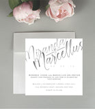 A Touch of Elegance Wedding Invitation