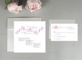 A Swirling Heart Wedding Invitation
