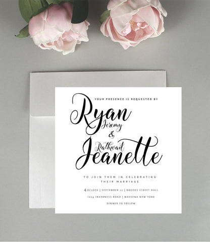 All About Text Wedding Invitation