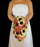Fall Casacding Sunflower Wedding Bouquet Collection