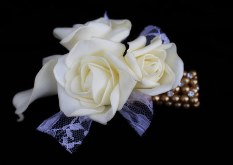 Gold Rose and Calla Lily Corsage