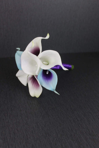 A Turquoise & Purple Calla Lily Jr./Toss Bouquet