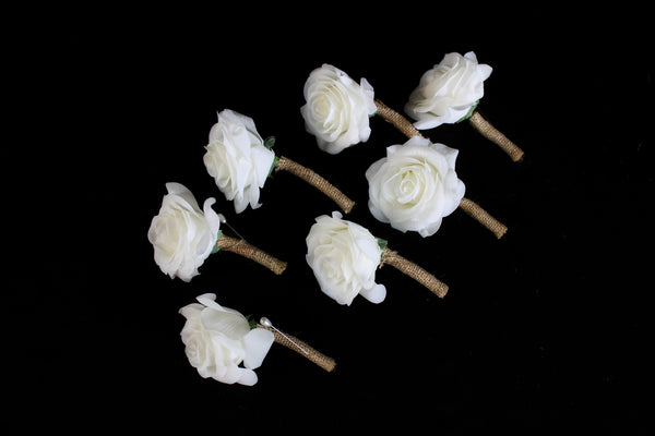 A Rustic Rose Boutonniere