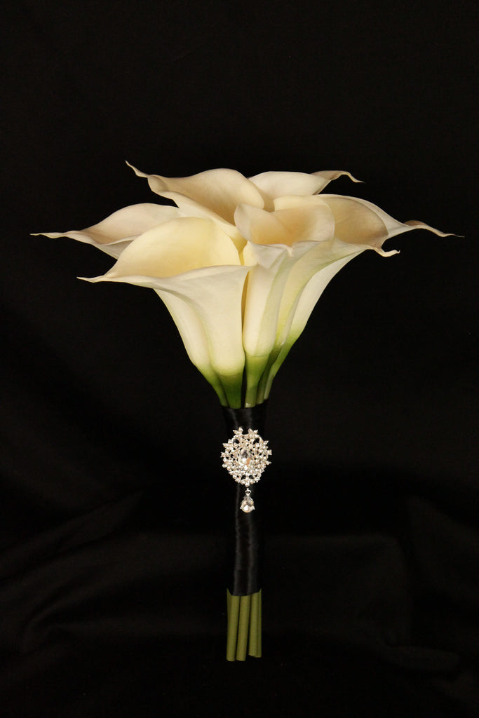 Large Calla Lily Wedding Bouquet Collection Detail