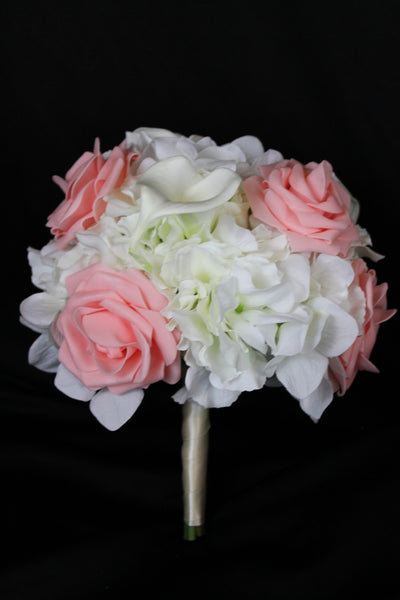 Hydrangea and Rose Brides Bouquet