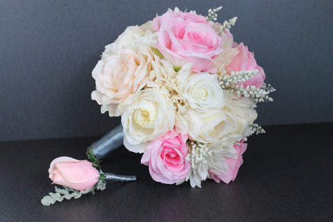 A Pink Rose Wedding Bouquet Collection