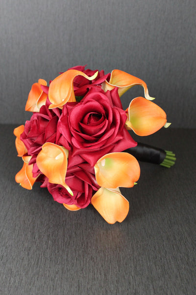 Fall Rose Wedding Bouquet Collection
