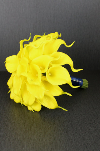 Yellow Calla Lily Brides Bouquet