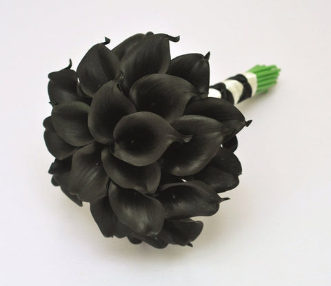 A Black Calla Lily Wedding Bouquet Collection