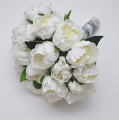 A White Peony Wedding Bouquet Collection