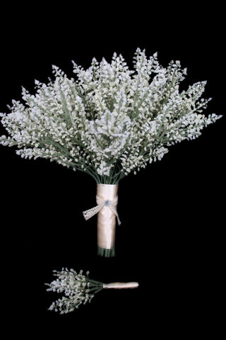 rustic wedding bouquet, wedding bouquet, baby's breath wedding bouquet, vintage wedding bouquet