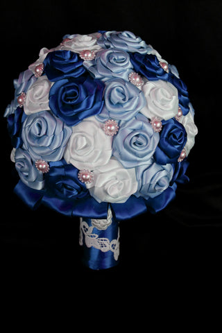 Shades of Blue Wedding Bouquet Collection